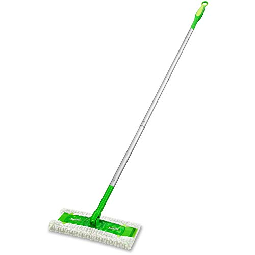 P&G Professional-09060CT Heavy Duty Sweeper Mop by Swiffer Professional, 10-inch Wide Duster, Ideal for Industrial or Commercial use on Hardwood, Tile or for Hand Dusting, (Pack of 3) - Green