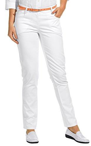 clinicfashion 10613029 Stretch Jeans Hose Damen weiß, Baumwolle Stretch, Größe 36