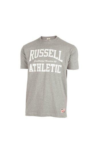 Russell Athletic Herren T-Shirt Crew Neck, Grau, S