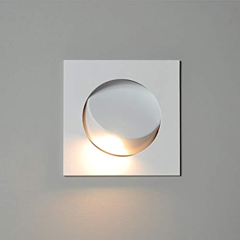 Wandleuchte Wandlampe Leselampe Nordic Modern Minimalist Embedded Led Wandleuchte Hotel Clubhaus Studie Schlafzimmer Nachttischlampe Leselampe (Farbe   Silber)