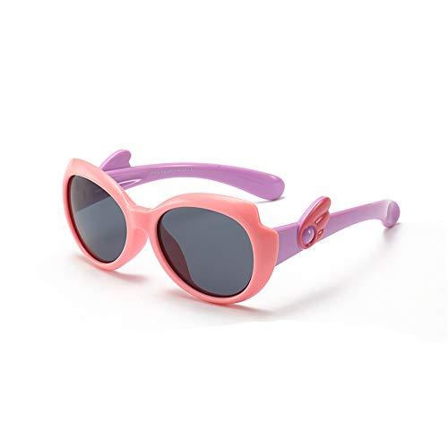 Suertree Kinder Polarisierte Sonnenbrille Schmetterling UV-Schutz Gummi Brillen für Mädchen Jungen Alter 2-10 Unisex Kinder