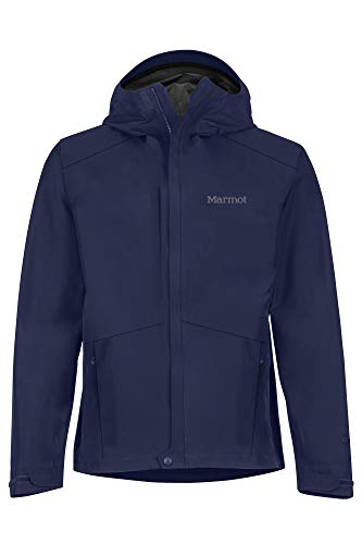 Marmot Minimalist Jacket Chubasquero Rígido, Chaqueta Impermeable, A Prueba De Viento, Impermeable, Transpirable, Hombre, Arctic Navy, M