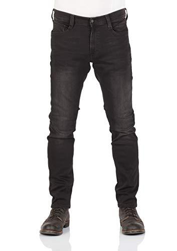 MUSTANG Herren Jeans Real X Oregon Tapered K Stretchhose Jeanshose Sweathose Denim 87% Baumwolle Blau Schwarz Grau, Größe:W 38 L 32, Farbauswahl:Black Denim (881)