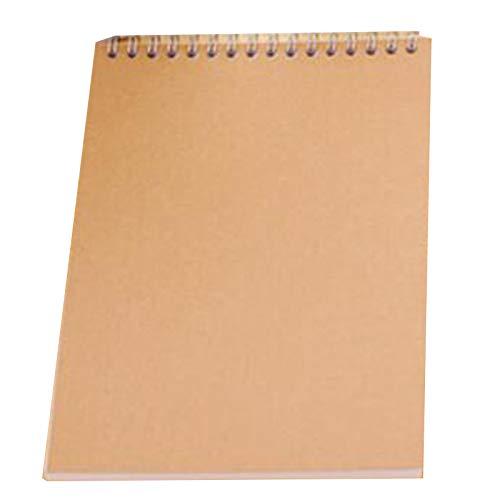 Ctzrzyt 10 Cuaderno de Dibujo Kraft A5 en Blanco Graffiti Sketch Book Color Dibujo Color SóLido