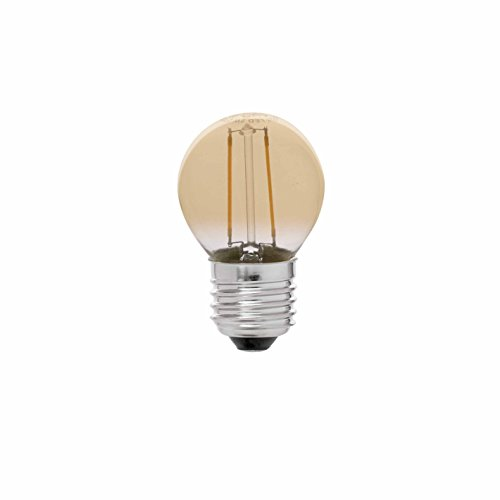 Faro 17414 G45 LED-Fadenlampe, Fassung E27, 2 Watt Filament Ambar 2200 Kelvin