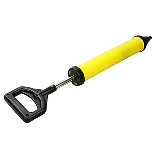 Rociador de lechada de cemento de cáscara de cáscara de galleta 60 * 13.5cm Herramienta de llenado amarillo de cemento de bomba con 4 boquillas