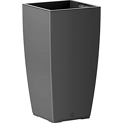 EMSA Vase à Auto-arrosage pour l'intérieur et l'extérieur - CASA 30 x 58 cm Granit Matt