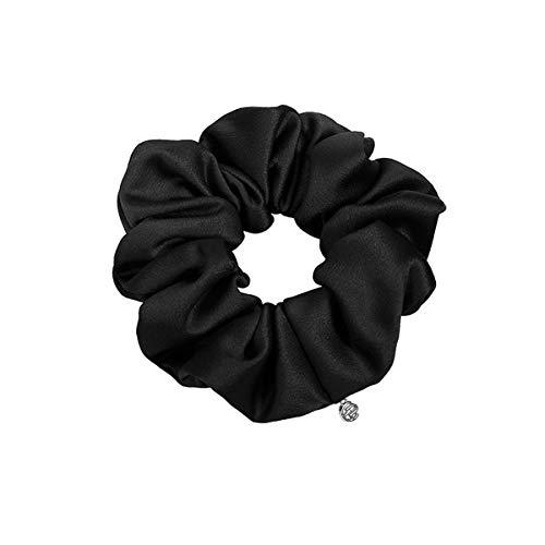 EVITA PERONI Hair Scrunchies Black Red Cloth Elastic Ties Ponytail Holder Twist for Women Teen Girls