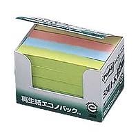 (業務用セット) ポスト・イット(R) 再生紙エコノパック(TM)シリーズ ふせんハーフ 1パック(20冊) (7.5×1.25cm) 【×5セット】 ds-1643043