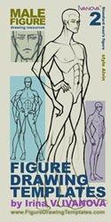 Figure Drawing Templates Set #2: Standard Male Figure (Fashion Illustration Templates by Irina V. Ivanova)