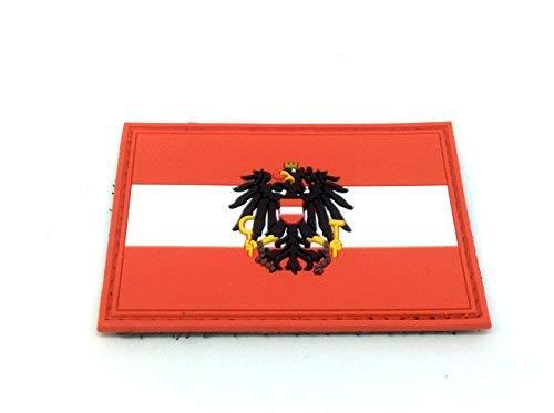 Österreich Österreicher Flagge PVC Patch Klett Emblem Abzeichen