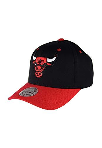 Mitchell & Ness New Jersey Nets Snapback Cappellino con logo della squadra 2 tonalità 110 - grigio-blu Chicaago Bulls - Nero/Rosso Taglia unica
