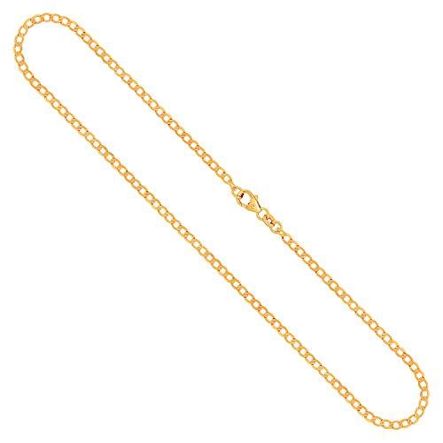 Goldkette, Panzerkette weit Gelbgold 333/8 K, Länge 55 cm, Breite 2.6 mm, Gewicht ca. 3.9 g, NEU