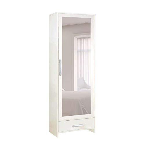Sapateira Com Espelho 1 Porta e 1 Gaveta Branco