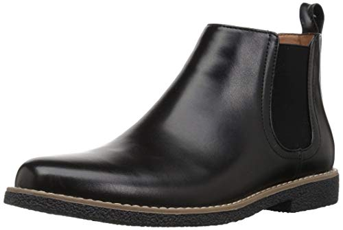 Deer Stags Boy's Zane Memory Foam Dress Comfort Chelsea Boot, Black, 4 Medium US Big Kid