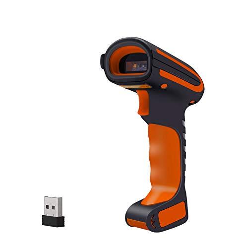 Alacrity Escáner de código de barras industrial 2D QR 1D con soporte, Bluetooth/2,4 GHz inalámbrico/USB con cable 3 en 1, resistente al polvo, a los golpes, manos libres, escaneo de pantalla, 2020 dBS