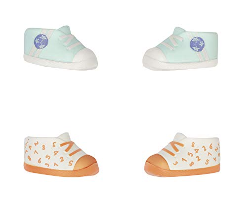 Baby Annabell 703632 Little Schuhe für 36cm Puppe - Leicht für kleine Hände, Kreatives Spiel fördert Empathie & Soziale Fähigkeiten, für Kleinkinder ab 1 Jahr - 2 Paar mit verschiedenen Designs