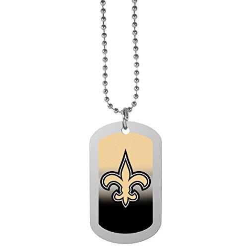 NFL Siskiyou Sports Fan Shop New Orleans Saints Team Tag Necklace 26 inch Team Color