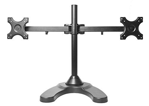 MonMount Dual LCD Freestanding Monitor Stand Up to 24-Inch, Black (LCD-6460B)