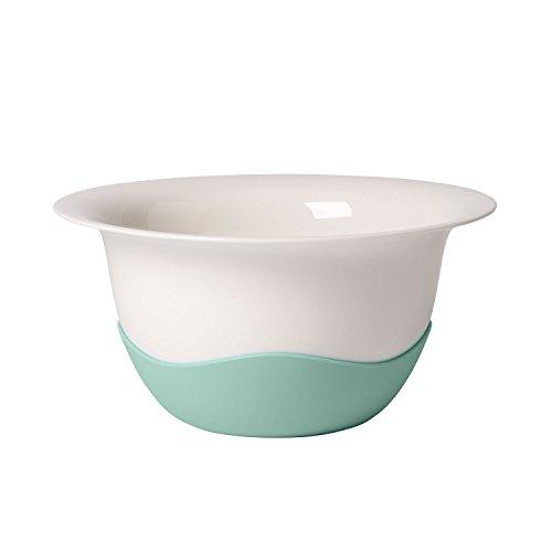 Villeroy & Boch Clever Cooking Plat creux/Passoire, Porcelaine Premium/Silicone, Blanc/Vert
