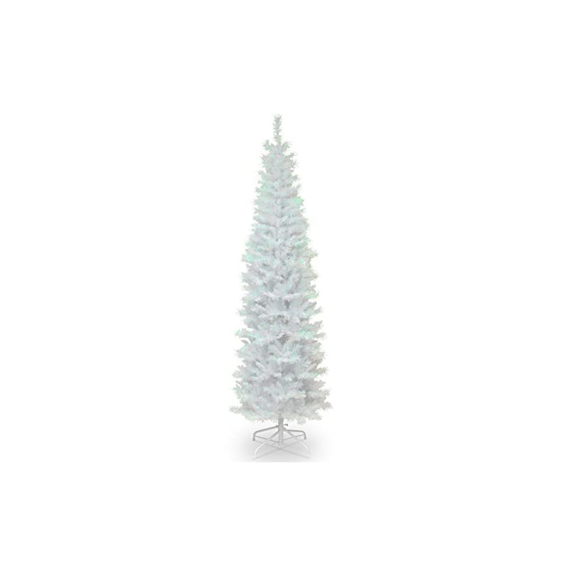 silk flower arrangements national tree company artificial christmas tree   includes stand   white iridescent tinsel - 7 ft