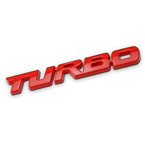 favourall Autocollants Et Stickers, 3D Turbo Letter Métal pour Ford Focus 2 3 St RS Fiesta Mondeo Voiture Camion Moteur Decal - Taille 98 * 12mm by