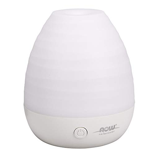 NOW Essential Oils, Ultrasonic USB Aromatherapy Oil Diffuser, Extremely Quiet, Heat Free, and Easy to Clean, Color Changing LED Diffuser