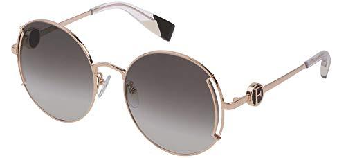 Furla SFU346 - Gafas de sol unisex para adulto Oro rosa - Lucido total 54