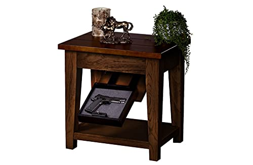 Tactical Traps End Table Gun Storage with Trap Door |...
