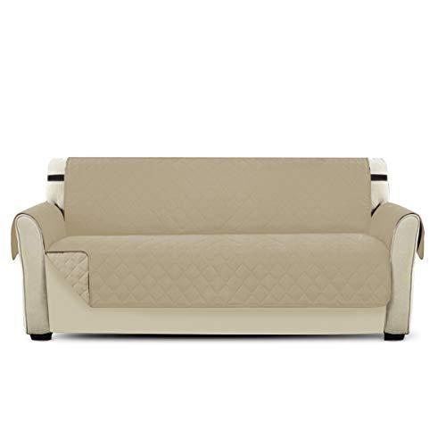 PETCUTE Lujo Cubre para Silla Fundas de Sofa Protector de sofá o sillón, Dos o Tres plazas Beige 3 plazas