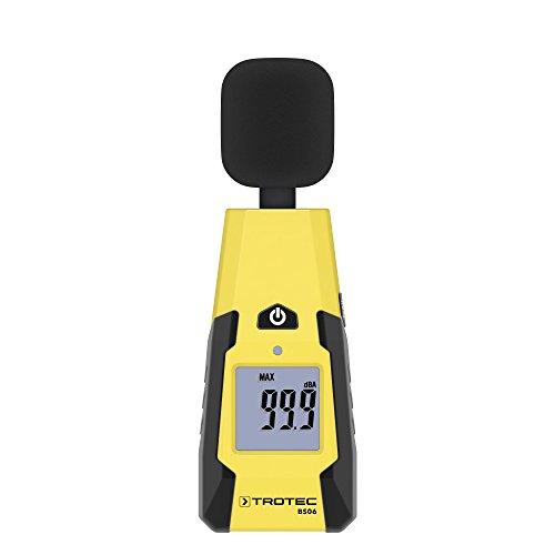 TROTEC BS06 Schallpegelmessgerät (40 - 130 dB) Geräuschquellen erfassen Windschutz Sensor Messgerät
