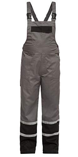 DINOZAVR Char Herren Arbeitskleidung Arbeitslatzhose Sicherheitslatzhose - mit 2,5 cm reflektierenden Streifen - Grau M