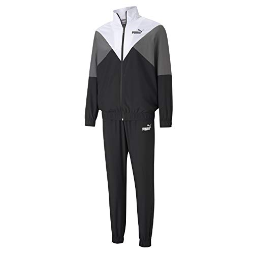 PUMA Herren CB Retro Woven Tracksuit cl Trainingsanzug, Black, XXL