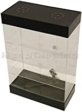 Small Items Counter Top Acrylic Display Case with LED Lights and Lock - Fully Assembled