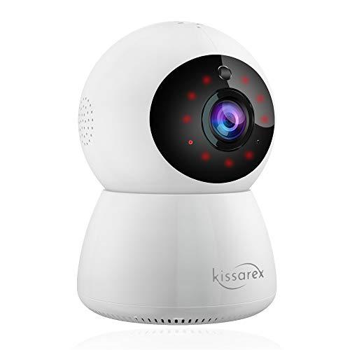 Kissarex Wireless WiFi Haustier Kamera: Indoor 1080p HD Nachtsichtüberwachung Hund Home Baby Pfanne Zoom Audio Video App Internet iPhone Smart Remote Telefon Monitor Sicherheitsüberwachung IP-System