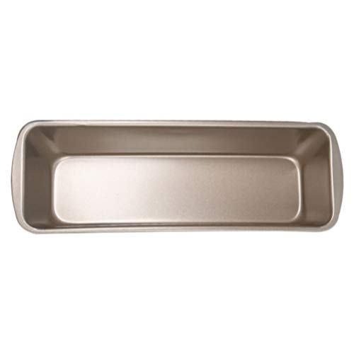 Hemoton Loaf Pan Toast Mold Non-Stick Long Bread Baking Pan Rectangle Baking Tray for Shop Kitchen Home (Size L, Golden)