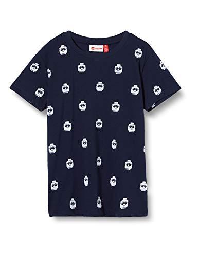 Lego Wear Lwtobias T-Shirt, Blu (Dark Navy 590), 140 Bambino