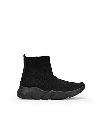 BOSANOVA Zapatillas Negras Tipo calcetín Negro 38