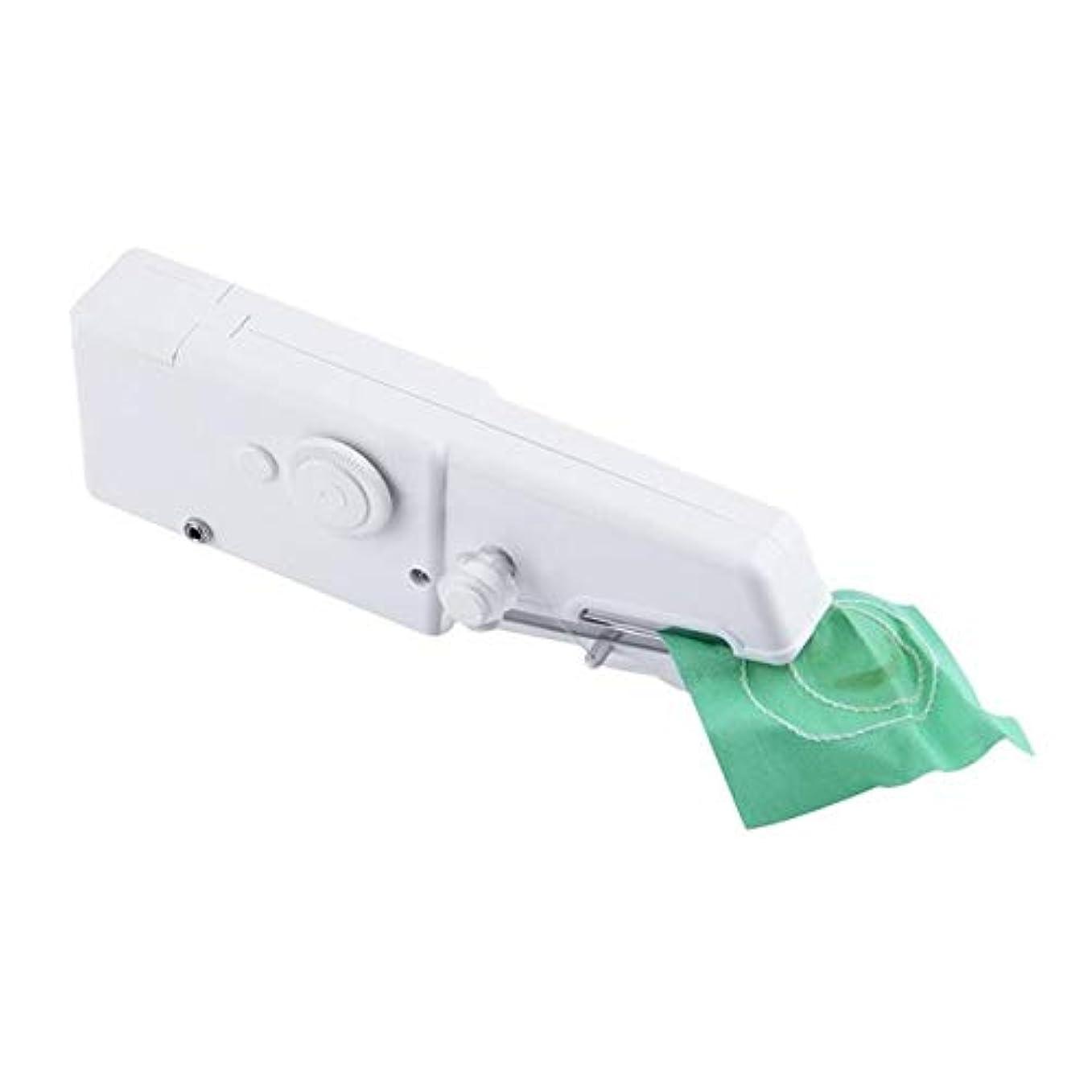 食物シャワー教師の日ポータブルミシンハンディハンドヘルドステッチミシンクイックステッチミシン針仕事コードレス服生地、白