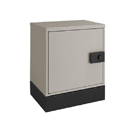 LIXIL(リクシル) 宅配ボックス KT コンパクト 左開き 据置用ベースセット シャイングレー 8KCD03SC+8KCD05BK