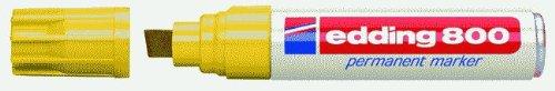 edding 4-800005 Permanentmarker 800, nachfüllbar, 4-12 mm, gelb