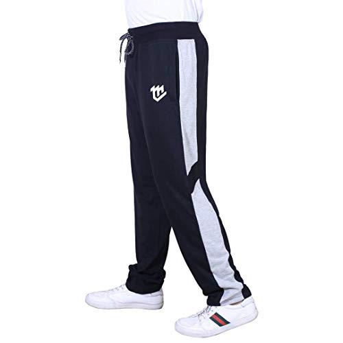 MARK LOUIIS Men's Regular Fit Track pants(ML-BSL-1101_Black_Large)