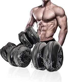 Kit manubri ad Acqua,Viaggi manubri Regolabile compilabili manubri Impostare Fino a 25KG, Bodybuilding Esercizio Attrezzature