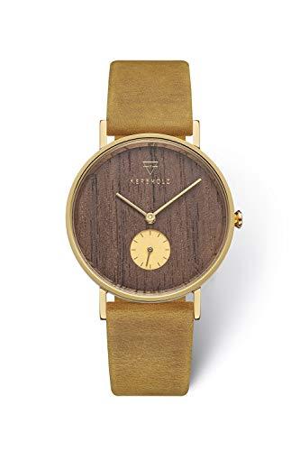 KERBHOLZ Holzuhr Uhr – Elements Collection Frida analoge Damenuhr, Quarz Uhr mit...