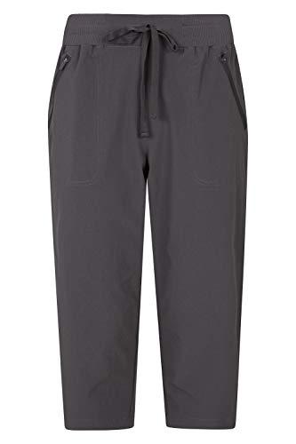 Mountain Warehouse Explorer pantalón Convertible Mujer - Pantalones de protección UV, Parte de Abajo de Secado rápido, Multibolsillos - para Viajar, Senderismo, Camping Gris 36
