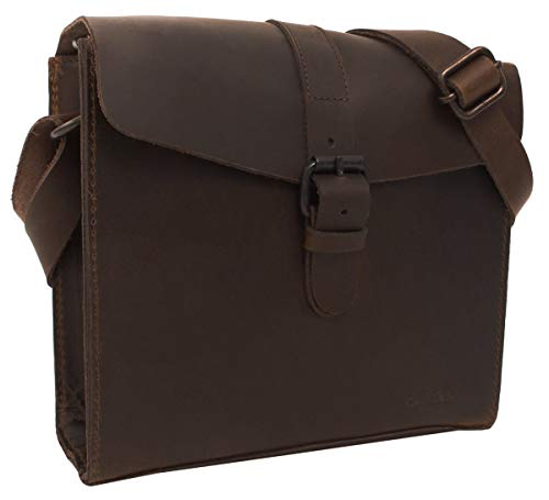 Gusti Umhängetasche Leder - Ashton Handtasche Vintage Braun Leder