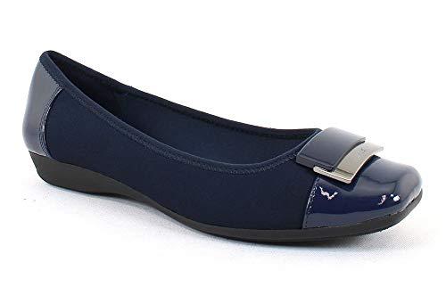 Anne Klein Sport Women's UNA Navy Syntheticflats-Shoes 10 B(M) US