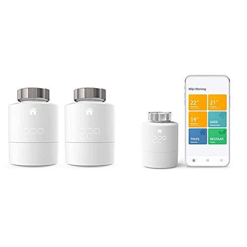 Tado Smartes Heizkörper-Thermostat Starter Kit V3+ (Intelligente Heizungssteuerung) + Heizkörper-Thermostat Duo Pack (Zusatzprodukte für Einzelraumsteuerung)