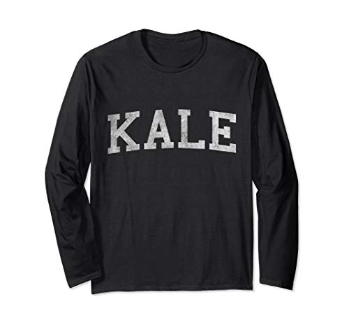 Vintage Kale University Funny Vegan Long Sleeve T-Shirt