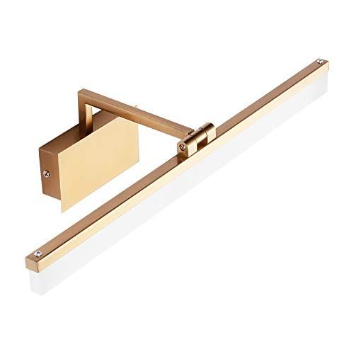LED wandlamp spiegel schijnwerper bad vochtdichte spiegel schijnwerper eenvoudige moderne slaapkamer kaptafel goud wandlamp wit licht 42 CM 9 Watt